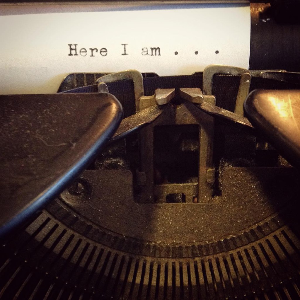 typewriter at The Bookstore