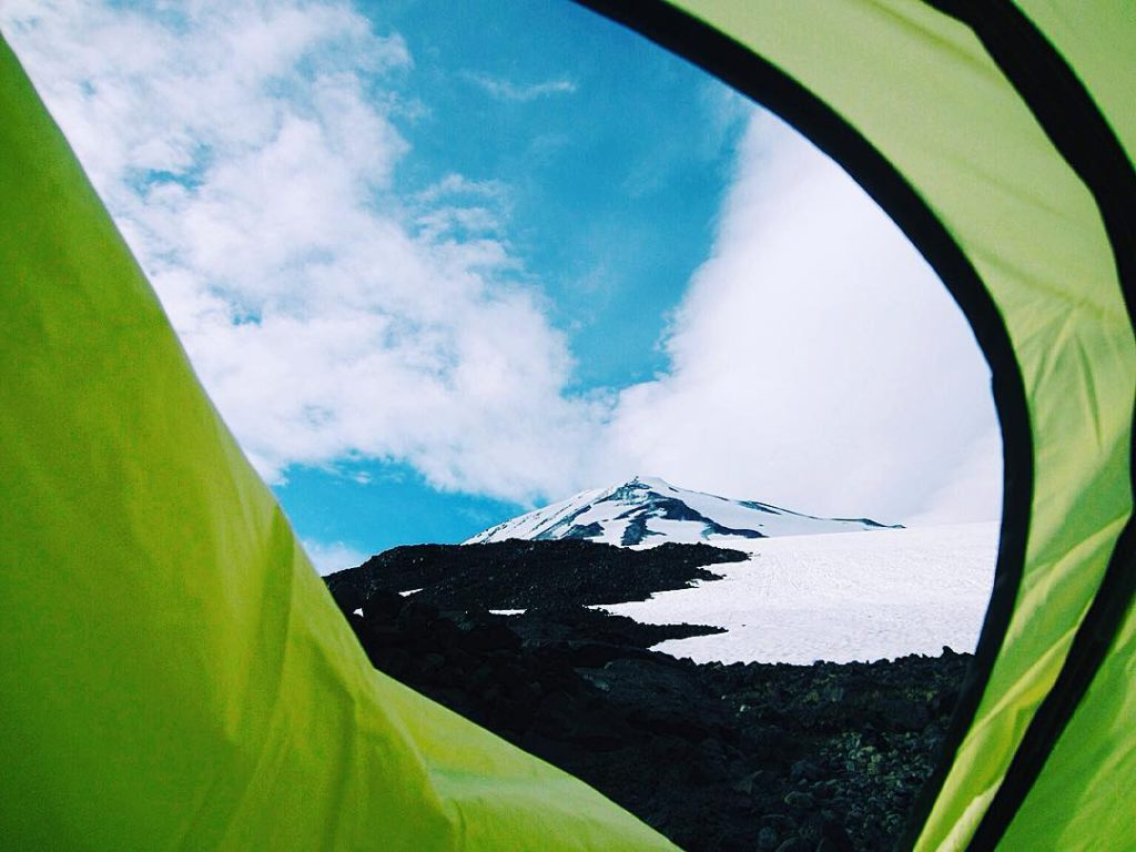 Mt Adams from the Tent